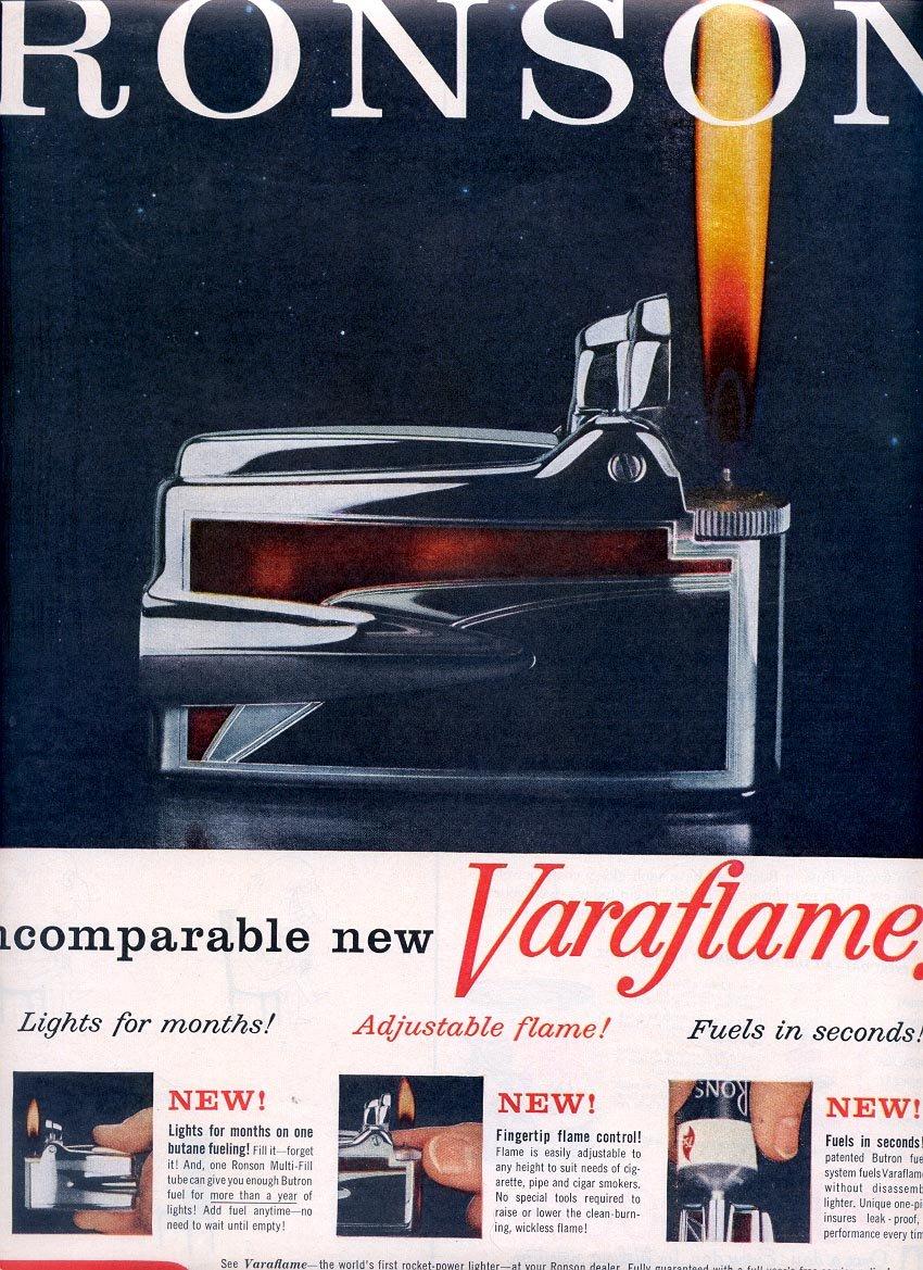 1959 RONSON VARAFLAME LIGHTERS MAGAZINE AD (283)