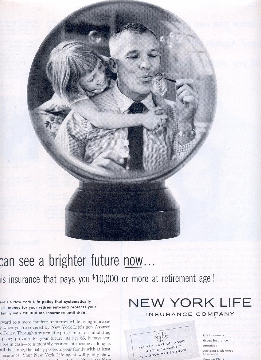 1959 NEW YORK LIFE INSURANCE COMPANY MAGAZINE AD (304)