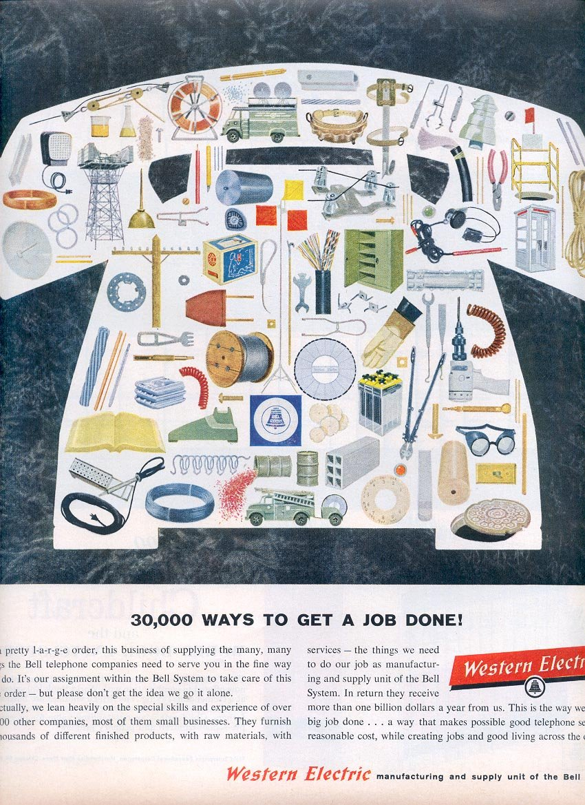 1959 WESTERN ELECTRIC MAGAZINE AD (305)
