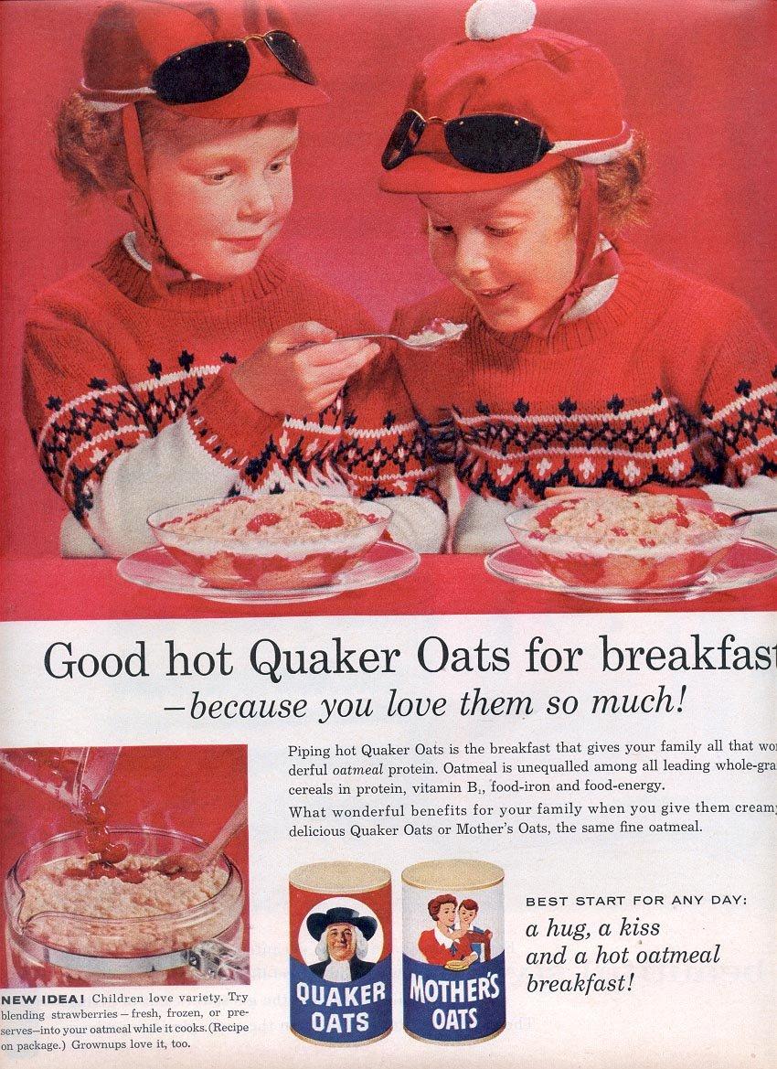 1959 QUAKER OATS OATMEAL MAGAZINE AD (310)