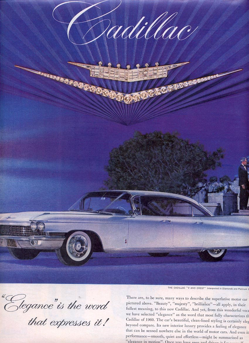 1959 CADILLAC BY GENERAL MOTORS CORPORATION MAGAZINE AD (312)