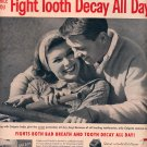 1959 COLGATE DENTAL CREAM WITH GARDOL MAGAZINE AD (331)