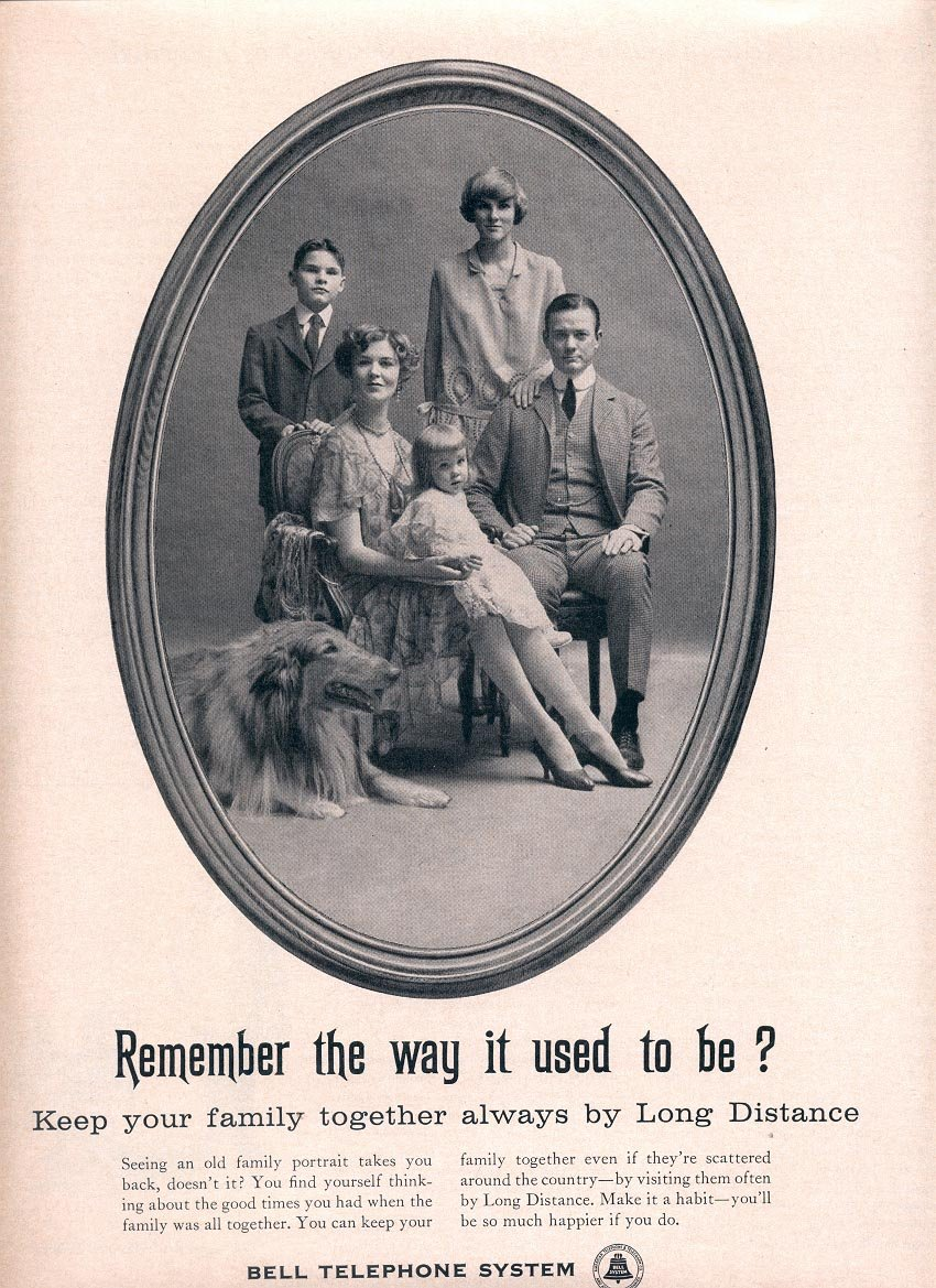 1959 BELL TELEPHONE SYSTEMS - REMEMBER THE WAY IS USED TO BE MAGAZINE AD (349)