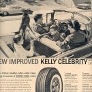 1959 KELLY SPRINGFIELD TIRES - NEW IMPROVED KELLY CELEBRITY TIRES MAGAZINE AD (357)
