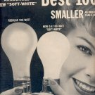 1959 GENERAL ELECTRIC LIGHT BULBS DOUBLE PAGE MAGAZINE AD (360)
