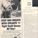 1959 COLGATE DENTAL CRAM WITH GARDOL MAGAZINE AD (377)