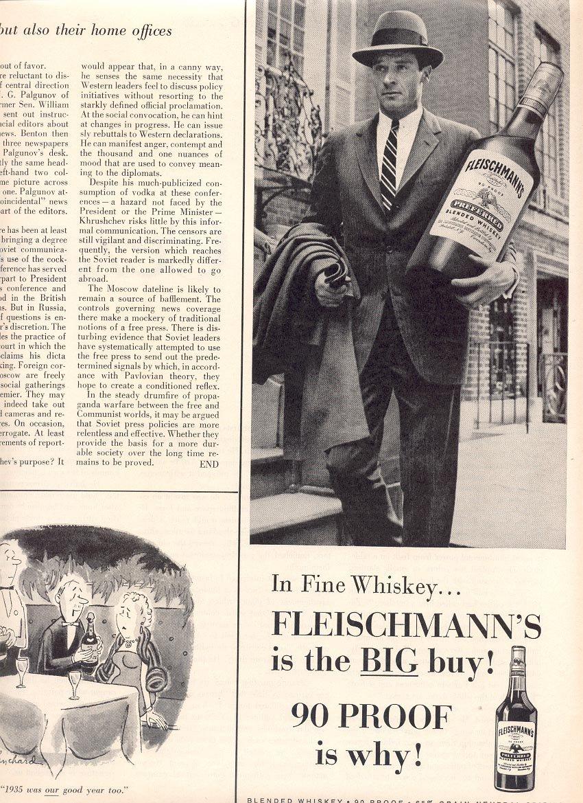 1959 FLEISCHMANN'S BLENDED WHISKEY MAGAZINE AD (383)