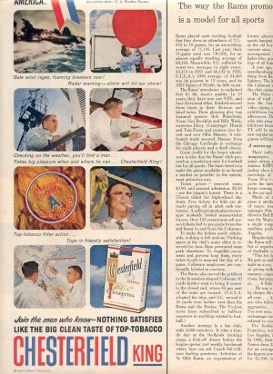 1959 CHESTERFIELD KING CIGARETTES AND MEN OF AMERICA - HURRICANE ALERT MAGAZINE AD (395)