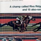 1972 KENTUCKY DERBY - A CHAMP CALLED RIVA RIDGE DOUBLE PAGE MAGAZINE AD (405)