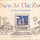 NEW AT THE ZOO BY PETER LIPPMAN 1969 CHILDREN'S HARDBACK BOOK NEAR MINT