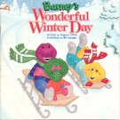 BARNEY'S WONDERFUL WINTER DAY BY STEPHEN WHITE 1994 CHILDREN'S SOFTCOVER BOOK MINT NEW
