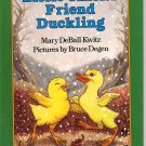 LITTLE CHICK'S FRIEND DUCKLING BY MARY DeBALL KWITZ 1996 CHILDREN'S I CAN READ HARDBACK BOOK MINT