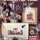 CHRISTMAS KIDS BY RACHEL CRISSINGER & LEISURE ARTS CROSS STITCH CRAFT BOOKLET 1980 VERY GOOD