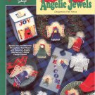THE NEEDLECRAFT SHOP - ANGELIC JEWELS 1993 PLASTIC CANVAS CRAFT LEAFLET NOS DISC MINT
