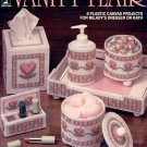 HOT OFF THE PRESS ~ VANITY FLAIR DRESSER & BATH 1992 PLASTIC CANVAS CRAFT LEAFLET DISC NOS M