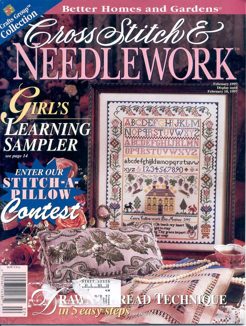 Cross Stitch Needlework Better Homes Garden Back Issue