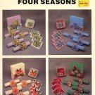 NEEDLECRAFT ALA MODE FOUR SEASONS PLASTIC CANVAS CRAFT LEAFLET 1991 NOS NEAR MINT
