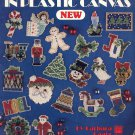 LEISURE ARTS BEADED ORNAMENTS PLASTIC CANVAS CRAFT LEAFLET 1992 VERY GOOD COND
