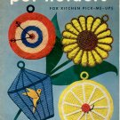 CLARK'S POT HOLDERS FOR KITCHEN #294 CROCHET J. & P. COATS CRAFT BOOKLET 1952 VERY GOOD TO NEAR MINT
