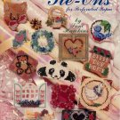 AMERICAN SCHOOL OF NEEDLEWORK COUNTED BEAD TIE-ONS PERFORATED PAPER CRAFT BOOKLET 1992 MINT NOS