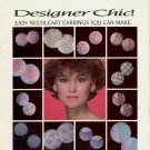 DESIGNER CHIC NEEDLEART EARRINGS CROSS STITCH CRAFTS LEAFLET BY JEAN FARISH 1986 NEAR MINT