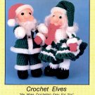CROCHET ELVES - COLLECTABLE HOLIDAY SERIES BY T D CREATIONS CROCHET CRAFT LEAFLET 1988 NEAR MINT