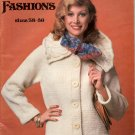 SWEATER FASHIONS SIZE 38 - 56 BY GRAPHIC ENTERPRISES KNIT & CROCHET CRAFT BOOKLET 1978 NEAR MINT