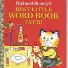 A LITTLE GOLDEN BOOK - RICHARD SCARRY'S BEST LITTLE WORD BOOK EVER HB 1992 VERY GOOD TO NEAR MINT