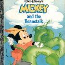 A LITTLE GOLDEN BOOK- DISNEYs MICKEY AND THE BEANSTALK CHILDRENS HARDBACK BOOK 1988 VGOOD