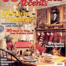 COUNTRY ACCENTS MAGAZINE JAN FEB 1995 DECORATING W/FOLK ART~30 HOLIDAY LOOKS NM