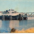 FORT FISHER SOUTHPORT FERRY IN NORTH CAROLINA COLOR POSTCARD #47 USED W/ 5¢ STAMP VERY GOOD