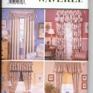 BUTTERICK #6107 WAVERLY WINDOW DRAPES & VALANCES SEW PATTERN UNCUT 1999 OUT OF PRINT NEAR MINT