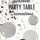 VINTAGE KAP KRAFT BOOKS - SEASONAL PARTY TABLE DECORATION # PB-24 KIDS CRAFT BOOKLET NOS MINT