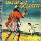 A LITTLE GOLDEN BOOK - DAVID AND GOLIATH #207-44 CHILDREN'S HB BOOK 1974 VERY GOOD COND