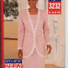 BUTTERICK #3232 SEE & SEW PATTERN - WOMEN'S JACKET & DRESS SIZE A 6-10 UNCUT OUT OF PRINT 1993 NM