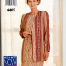 BUTTERICK #4485 SEE & SEW PATTERN -WOMEN'S JACKET TOP & SKIRT SIZE C18-22 UNCUT OUT OF PRINT 1996 NM