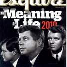 ESQUIRE MAGAZINE JANUARY 2010 ~ THE MEANING OF LIFE & THE KENNEDY DYNASTY NM