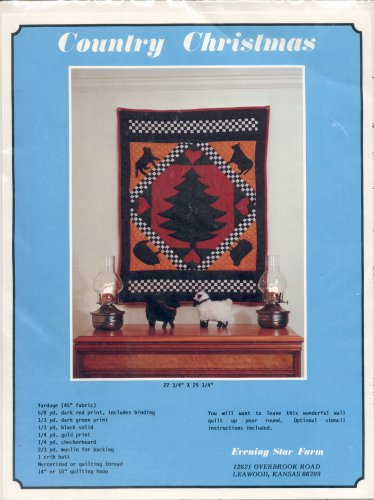 VINTAGE QUILTING CRAFT BOOKLET ~ COUNTRY CHRISTMAS BY LINDA BRANNOCK - EVENING STAR FARMS 1983 MINT