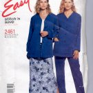 McCALL'S EASY STITCH #2461 MISSES CARDIGAN SKIRT PANTS SIZE B 16-22 UNCUT OOP 1999 NEAR MINT