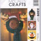 McCALL'S CRAFTS #3309 DECORATIVE STRAW HAT WREATHS UNCUT OOP 2001 NEAR MINT