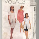 McCALL'S PATTERN #8177 MISSES MOCK DRESS SIZE G 20-24 UNCUT OOP 1996 VG TO NEAR MINT