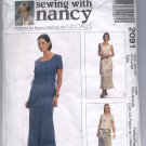 McCALL'S SEWING WITH NANCY #2091 MISSES DRESS SIZE 20-22 PARTIALLY CUT OOP 1999 VG-NM
