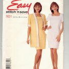 McCALL'S EASY STITCH N SAVE #7631 MISSES JACKET & DRESS SIZE B 14-20 CUT OOP 1995 NM