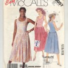 McCALL'S EASY #3057 MISSES STRETCH KNIT DRESS SIZE B 8-12 CUT OOP 1987 NM