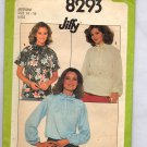 SIMPLICITY PATTERN #8293 MISSES PULLOVER BLOUSE SIZE MED 14-16 CUT 1977 VINTAGE
