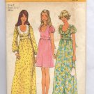 SIMPLICITY PATTERN #5568 MISSES DRESS IN TWO LENGTHS SIZE 8 CUT 1973 VINTAGE