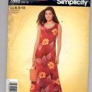 SIMPLICITY PATTERN # 5010 MISS DRESS 2 LENGTHS & BAG SIZE 8-18 UNCUT 2004 OOP