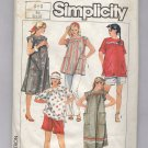 SIMPLICITY PATTERN # 6857 MATERNITY PANTS SHORTS TOP OR DRESS SIZE 6-8 CUT 1985 OOP