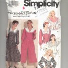 SIMPLICITY PATTERN # 7374 MISSES DRESS & CULOTTES W/DIFFERENT COLLARS SIZE H5 6 -14 UNCUT 1991 OOP
