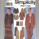 SIMPLICITY PATTERN # 7099 MISSES JACKET TOP PANTS SKIRT SIZE 8-14 UNCUT 2002 OOP